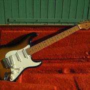 「Fender Stratcaster」のブライトで枯れた音色。どれほどの名曲が、このギターから生まれたことか。