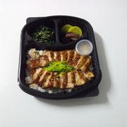 ④Gebratener Hähnchen in Teriyakisoße auf Reis    7,90€
