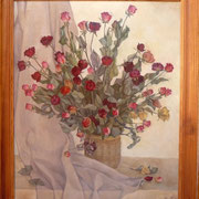 Rosen, Öl auf Leinwand, 50x60