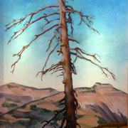 Dürrer Baum, Öl auf Leinwand, 40x50