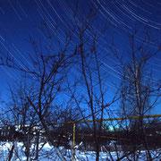Зимняя ночь в посёлке Чаадаевка, Пензенская обл.
