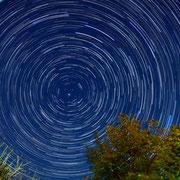 Крым. Следы вращения звёзд вокруг Полярной звезды
