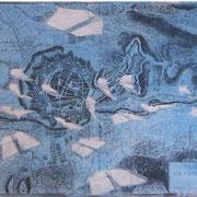 ...freischwebend / Papierlithographie 2019 (digitale Collage von U. Schubert, Stadtplan Freiburgs Vaubans Festung / Bild A. Burrer, analoger Druck A. Burrer)