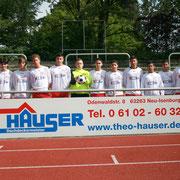 Bsp. Textilbeschriftung Fußballmannschaft mit Sponsor aus dem Rhein-Main-Gebiet
