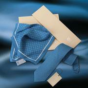 Krawatten Tücher bedruckt im Corporate Design in Seide AICIA