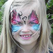 Kinderschminken - Sommerfest - Kindergeburtstag -- Mask Butterfly - Maske Schmetterling
