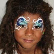 """Kinderschminken - Kinderfest - Weihnachtsfeier -- Mask Snowprincess - Schneekönigin - Maske im """" Elsa - Stil """""""