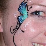 Eyepainting - blauer Schmetterling