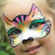 Kinderschminken - Kindergeburtstag - Kinderfest -- Mask cute kitty - Maske Kätzchen / Tribal