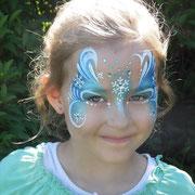 Kinderschminken - Kindergeburtstag - Prinzessinen-party -- Mask Snowprincess - Maske Schneekönigin