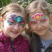 Kinderschminken - Sommerfest - Kindergeburtstag -- bunte Masken