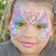 Kinderschminken - Kinderfest - Kindergeburtstag -- Mask flower / butterfly - Blumenmaske / Schmetterling