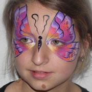 kinderschminken - Sommerfest - Kindergeburtstag -- Mask pink butterfly - Maske rosa Schmetterling