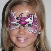 Kinderschminken - Kinderfest - Kindergeburtstag -- Mask unicorn - Maske Einhorn / Pegasus