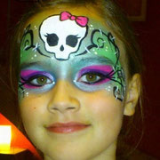 Kinderschminken - Halloween-party - Kinderfest -- Mask Frankie Stein - Painting im Monster High - Stil