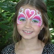 Kinderschminken - Kinderfest - Kindergeburtstag -- Mask heart tribal - Maske Regenbogen / Herz / Tribal
