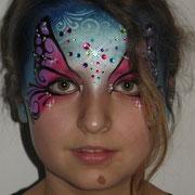 Kinderschminken - Kinderfest - Kindergeburtstag -- Mask butterfly fairy - Maske Schmetterling / Fee / bunte Strasssteine