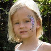Eyepainting - rosa Schmetterling