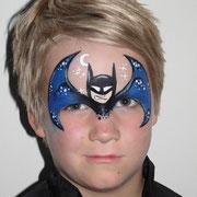 Kinderschminken - Kinderfest - Kindergeburtstag -- Maske Batman