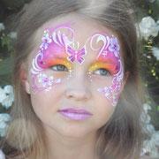 Kinderschminken - Sommerfest - Kindergeburtstag -- Mask summerfeeling - Maske Schmetterling / Blumen