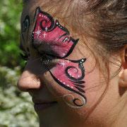 pinker Schmetterling