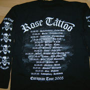 European Tour 2005 Longsleeve Back