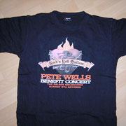 Pete Wells Benefit Gig Shirt Front