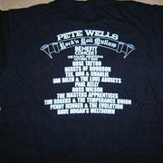 Pete Wells Benefit Gig Shirt Back