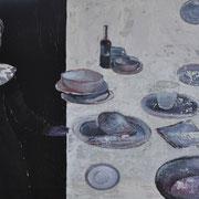 After diner 2017 Acryl auf Leinwand  100 x 150 cm