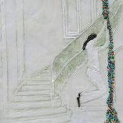 Spieltrieb 4, 2013, Paraffin und Öl auf Nessel,  38 x 28 cm