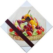 Tarte 2017 Mixed Media auf Leinwand 20 x 20 cm
