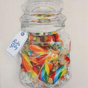 VERKAUFT !!! Candy Tong, 2015, Mischtechnik auf Leinwand, 80 x 70 cm