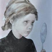 Spieglein Spieglein, 2015, Eitempera, Acryl auf Leinwand, 120 x 80 cm