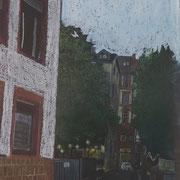 WASCHSALON 2020 Ölkreide auf Papier  39 x 17 cm