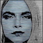 cara_03 (blau), 2015, Acryl auf Leinwand, Unikat, 100 x 100 cm
