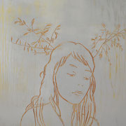 Feld, 2013, Acryl auf Sperrholzschnitt,  65 x 80 cm
