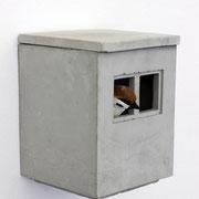 """""""Sozialspatzenbau"""" - modulare Nistkästen für Spatzen (Koloniebrüter) 2020 Guss aus hochfestem Beton;  1 Modul; incl. Dach offene Edition ohne Zertifikat 18 x 14 x 14 cm"""
