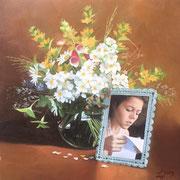 Blumenbilder 3 2009 Öl auf Leinwand 40 x 40 cm