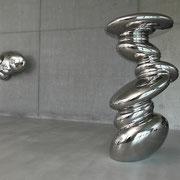 VERKAUFT !!! Cluster (standing) 435 2013 Schmiedestahl  105 x 108 x 200 cm