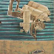 Taucher, 2013, Pappel, ca. 56 x 84 x 6 cm