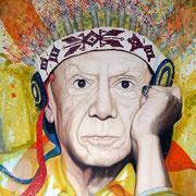 VERKAUFT !!!Look´s like Picasso, 2014, Öl auf Leinwand, 170 x 150 cm