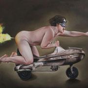 """Atomic Missile"" 2014 Öl auf Leinwand  120 x 160 cm"