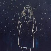 Sternennacht 2019 Acryl auf Sperrholzschnitt  180 x 140 cm