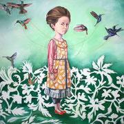 Frida, 2012, ÖL auf Leinwand, 100 x 100cm