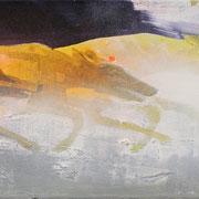 Greyhounds 2 2018 Acryl, Sprühlack auf Leinwand  30 x 90 cm