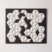 Cluster II 2017 Porzellan auf pigmentierter Holzfaser  80 x 70 x 5 cm
