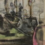 Autoscooter (klein), 2014, Pappel Mixed Media, ca. 46 x 31 x 3 cm