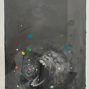 Monotypie: Affe (incl. Rahmen) 2017 Papier  60 x 50 cm