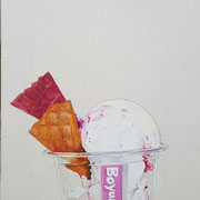 Icecream 2017 Mixed Media 41 x 24 cm