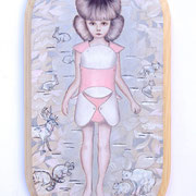 Buy it for me, 2010, Öl auf Holz, 36 x 18,5 cm